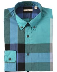 Burberry Brit Macro Checked Cotton Shirt - Lyst