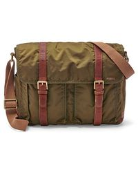 Fossil 'Estate' Nylon Messenger Bag - Lyst