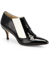 Elizabeth And James Lia Bicolor Patent Leather Ankle Boots - Lyst