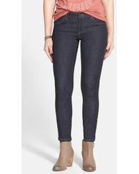 Volcom - Distressed Super Skinny Jeans - Lyst