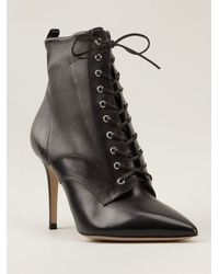 Gianvito Rossi Lace-up Ankle Boots - Lyst