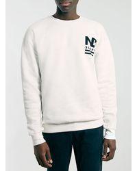 Topman Off White North Dakota Front and Back Print Sweatshirt - Lyst