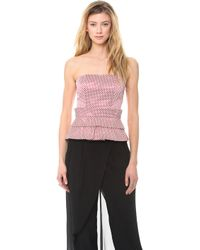 Sass & Bide The Deep End Bustier Top - Lyst