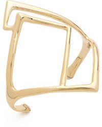 Alexis Bittar Geometric Cuff Bracelet Gold - Lyst
