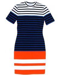 T By Alexander Wang Stretch Stripe Engineer Dress - Lyst