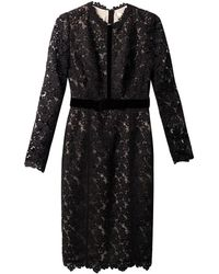 Erdem Cherise Longsleeved Lace Dress - Lyst