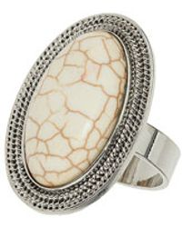 TOPSHOP - Large Oval Semi Precious Ring - Lyst