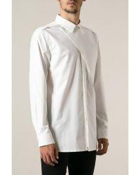 Helmut Lang White Storm Flap Shirt - Lyst