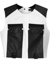 Alexander Wang Crop Top With Cargo Pockets - Lyst
