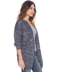 Mink Pink Direct Hit Hooded Cardigan - Lyst