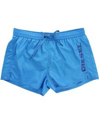 Diesel Turquoise Coral Red Swim Shorts blue - Lyst