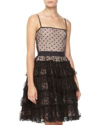 RED Valentino Laceruffled Fitandflare Dress - Lyst