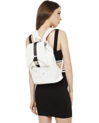 Nila Anthony - White Buckle Down Backpack - Lyst