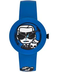 Karl Lagerfeld Unisex Karl Pop Tokidoki Blue Silicone Strap Watch 40mm - Lyst