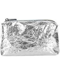 Topshop Metallic Foil Make-Up Bag silver - Lyst