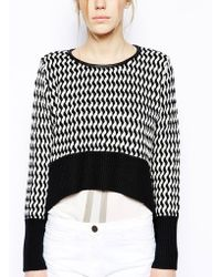 Sass & Bide - I Want Life Striped Jumper with Dipped Hem - Lyst
