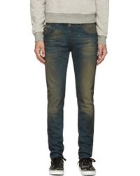 Diesel Deep Blue Faded Sleenker Jeans - Lyst