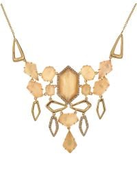 Alexis Bittar - Goldtone Citrine Articulated Bib Necklace - Lyst