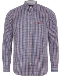 Aquascutum Mini Club Check Print Long Sleeve Shirt - Lyst