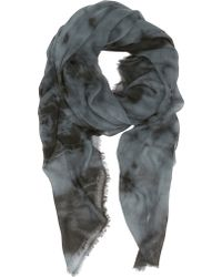 Barneys New York Stonewashed Oversized Scarf - Lyst