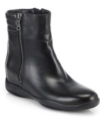 Prada Leather Ankle Boots - Lyst