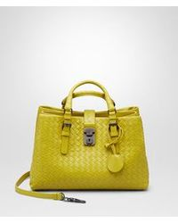 Bottega Veneta New Chartreuse Intrecciato Light Calf Roma Bag - Lyst