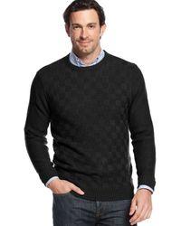 Geoffrey Beene Solid Basketweave Sweater - Lyst