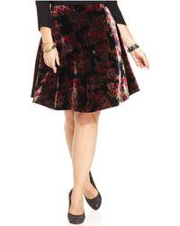 American Rag - Plus Size Floral-Print Velvet Skirt - Lyst