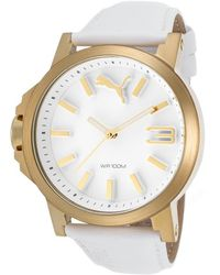 PUMA - Men's Ultrasize White Leather And Dial - Lyst