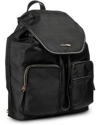 Calvin Klein Canvas Backpack black - Lyst