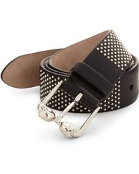 Alexander McQueen Studded Leather Belt silver - Lyst