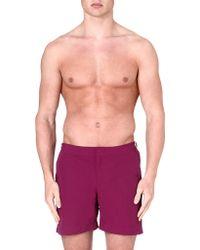 Orlebar Brown Bulldog Swim Shorts Magenta - Lyst
