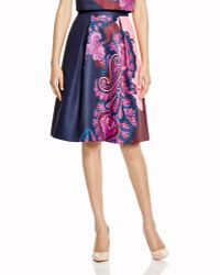 Ted Baker | Pevides Paisley Skirt - Bloomingdale's Exclusive | Lyst