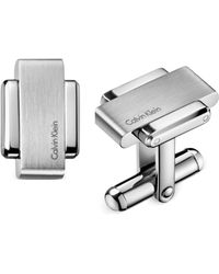 Calvin Klein Stainless Steel Cuff Links - Lyst