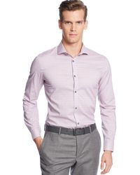 Calvin Klein Fine-checked No-iron Shirt - Lyst