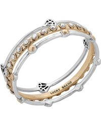 Lucky Brand - Gifting Bracelets Two-tone Bangle Set - Lyst