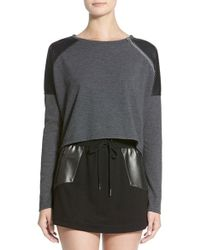 Apres Ramy Brook - 'tammi' Long Sleeve Crop Top - Lyst