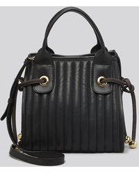 See By Chloé Satchel - Sheen Quilted Small with Strap - Lyst