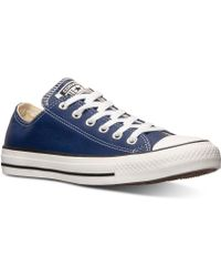 Converse Mens Chuck Taylor Ox Leather Casual Sneakers From Finish Line - Lyst