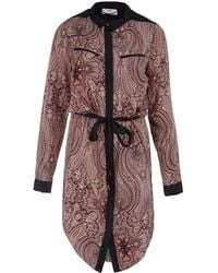 Day Birger Et Mikkelsen Pink Anglian Paisley Print Shirt Dress - Lyst
