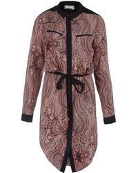 Day Birger Et Mikkelsen Pink Anglian Paisley Print Shirt Dress - Lyst