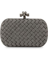 Bottega Veneta Metal Intrecciato Knot Frame Clutch Bag - Lyst