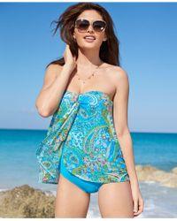 Lauren by Ralph Lauren Printed Flyaway One-Piece Swimsuit - Lyst