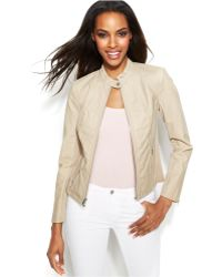 Inc International Concepts Faux-Leather Moto Jacket - Lyst