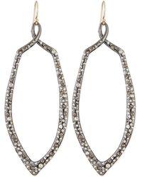Alexis Bittar Crystal Encrusted Ruthenium Teardrop Earrings - Lyst