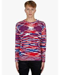 Raf Simons Sterling Ruby Mens Tricolour Knitted Jumper - Lyst