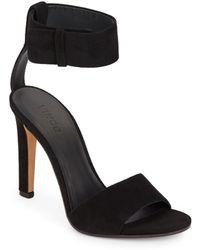 Vince Gita Suede Ankle Strap Sandals - Lyst