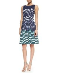 Lafayette 148 New York Zoe Sleeveless Striped Poplin Dress - Lyst