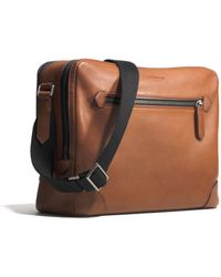 Coach Bleecker Flight Bag in Leather - Lyst