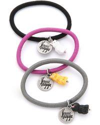 Venessa Arizaga - Meow Hair Tie Set - Pink/black/white - Lyst